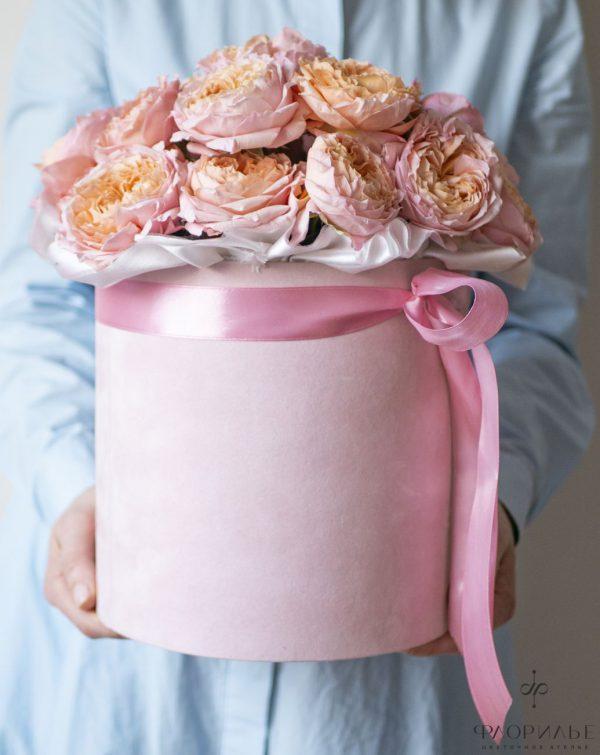 Роза Джульетта в шляпной коробке