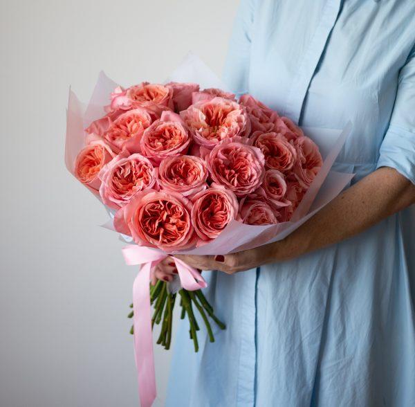 Букет пионовидных роз монобукет, пионовидная роза