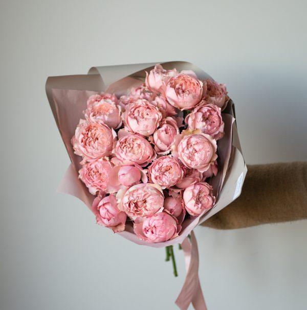 Пионовидная роза Джульетта монобукет, роза Джульетта